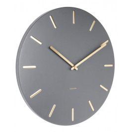 Designové nástěnné hodiny 5716GY Karlsson 45cm