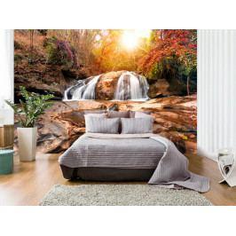 Murando DeLuxe Podzimní les s vodopády 450x315 cm