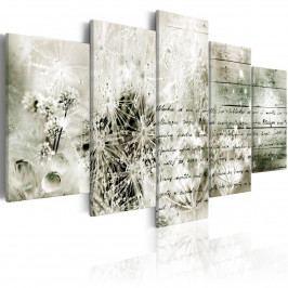 Murando DeLuxe Pětidílný obraz - milostný list 200x100 cm