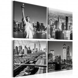 Murando DeLuxe Černobílý New York 80x80 cm