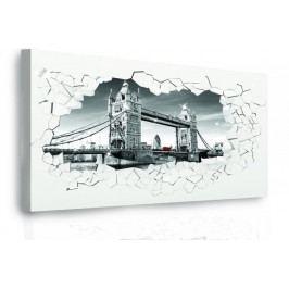 InSmile Moderní obraz - Tower bridge v kameni 60x60 cm