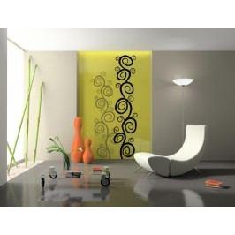 Swirl keřík (50 x 11 cm) -  Samolepka na stěnu
