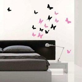 Motýlí hejno 14 kusů - Samolepka na zeď