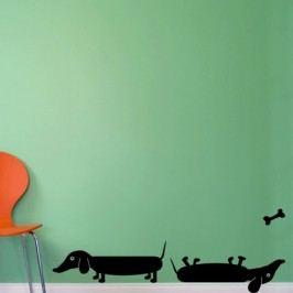 Jezevčíci - Samolepka na zeď