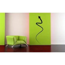 Letící šipka (60 x 15 cm) -  Samolepka na zeď