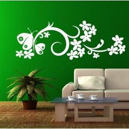Motýlí ornament 2 (50 x 18 cm) -  Dekorace na zeď