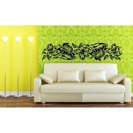 Floral ornament (98 x 23 cm) -  Dekorace na zeď
