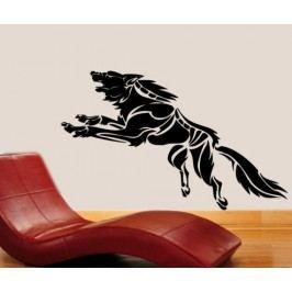 Splašený vlk (60 x 23 cm) -  Dekorace na stěnu