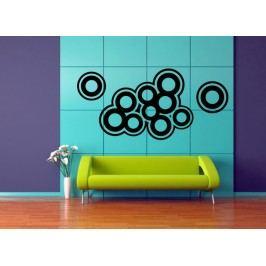 Obkreslené kruhy (60 x 28 cm) -  Samolepka na zeď