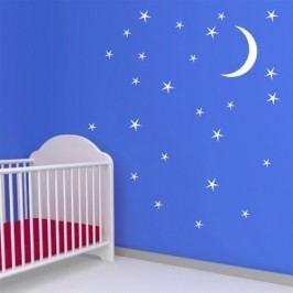 Hvězdy s měsícem - Samolepka na zeď