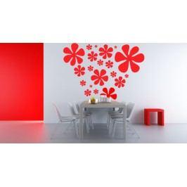 Plné květy - Samolepka na zeď