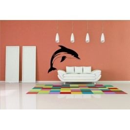 Delfín (50 x 30 cm) -  Samolepka na zeď