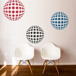 Kruhová 3D koule (30 x 30 cm) -  Samolepka na zeď