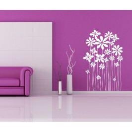 Pnoucí květiny (50 x 31 cm) -  Samolepka na zeď