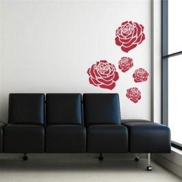 Květy růží - Samolepka na zeď