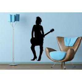 Kytaristka (60 x 32 cm) -  Samolepka na zeď