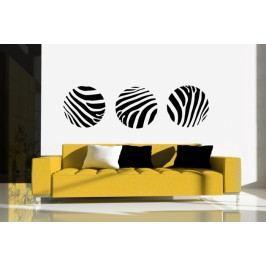 Zebří kruhy (Průměr : 32 cm) -  Samolepka na stěnu