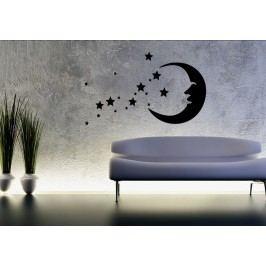 Hvězdy s měsícem 2 - Samolepka na zeď