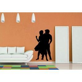 Taneční pár (60 x 35 cm) -  Samolepka na zeď