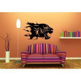 Hořící tygr (60 x 36 cm) -  Samolepka na zeď