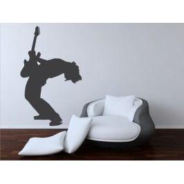 Kytarista (60 x 37 cm) -  Samolepka na zeď