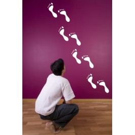 Xdecor Lidské stopy - Samolepka na stěnu