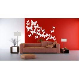 Motýlí hejno 55 kusů - Samolepka na zeď