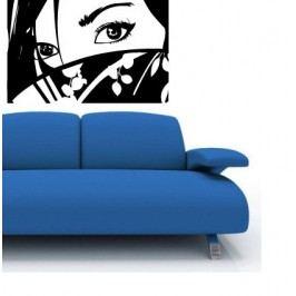 Komiksová dívka (60 x 40 cm) -  Samolepka na stěnu