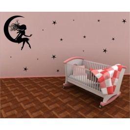 Měsíční víla (50 x 40 cm) -  Samolepka na zeď