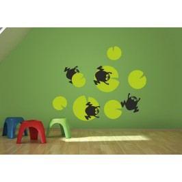 Žáby na listě - Samolepka na zeď
