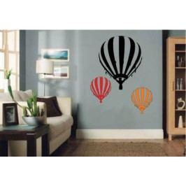 Horkovzdušný létající balon (50 x 43 cm) -  Samolepka