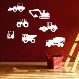Nákladní auta - Samolepka na zeď