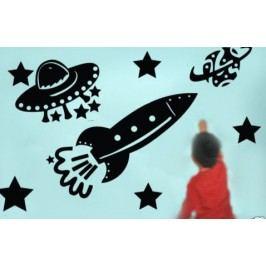 Vesmírný set - Samolepka na zeď