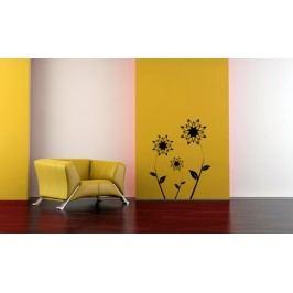 Lučni květiny 3 kusy - Samolepka na zeď