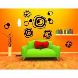 Retro obrysy kostek - Dekorace na zeď