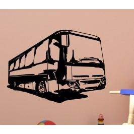 Dálkový autobus (60 x 45 cm) -  Samolepka na stěnu