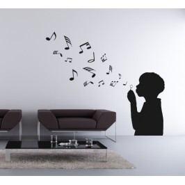 Hudební bublifuk (Výška hlavy: 50 cm) -  Samolepka na zeď