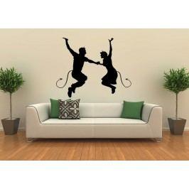 Ďábelský pár (60 x 48 cm) -  Samolepka na stěnu