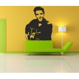 Elvis Presley s kytarou (60 x 48 cm) -  Samolepka na zeď