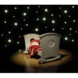 SVÍTICÍ hvězdy typ 2 - Samolepka na zeď