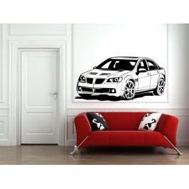 Závodní auto (98 x 48 cm) -  Samolepka na stěnu