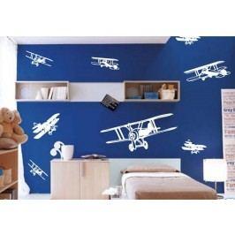 Letadla velký set - Samolepka na zeď