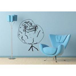 Meme Forever Alone (60 x 49 cm) -  Samolepka na zeď