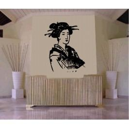 Svůdná geisha (60 x 49 cm) -  Samolepka na zeď