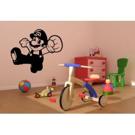 Herní postavička Mario (60 x 51 cm) -  Samolepka na zeď