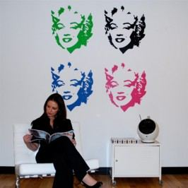 Marilyn Monroe (60 x 51 cm) -  Samolepka na zeď
