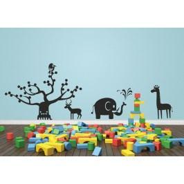 Dětské safari - Samolepka na stěnu