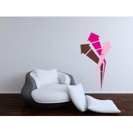 Šipky (98 x 53 cm) -  Samolepka na zeď