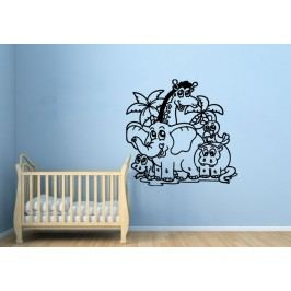 Dětská džungle (60 x 57 cm) -  Samolepka na zeď