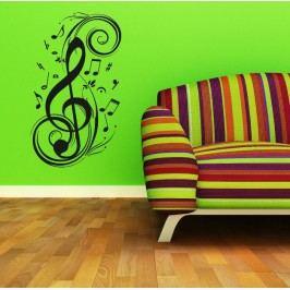 Hudební ornament (98 x 57 cm) -  Samolepka na stěnu